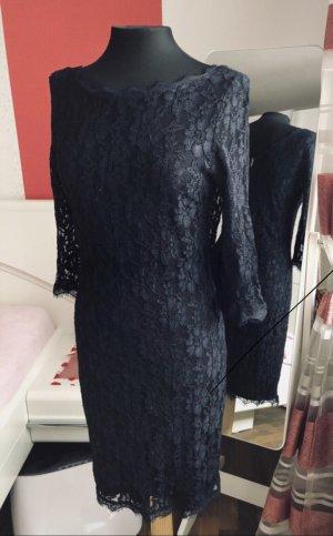 Spitze Kleid /3/4 Ärmel von Zero dunkelblau gr.36/38, wie Neu
