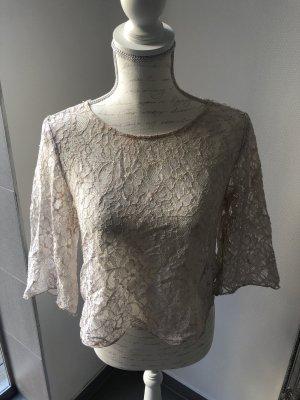 Spitze Oberteil Bluse mit Knöpfen am Rücken