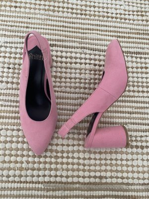 Spitze Pumps in Rosa