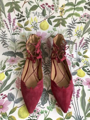 Spitze rote ballerinas