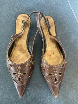 Spitze Schuhe dunkelbraun