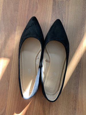Ballerina's met kant zwart