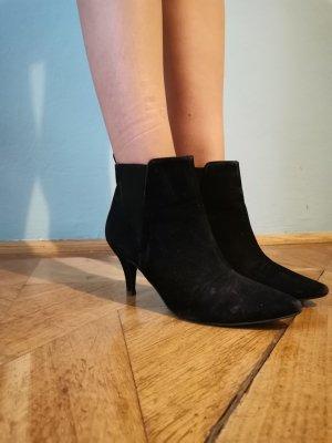 Zara Wciągane buty za kostkę czarny