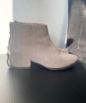 H&M Wciągane buty za kostkę jasnobeżowy-kremowy