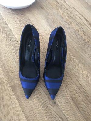 Spitze Zara Pumps Blau schwarz