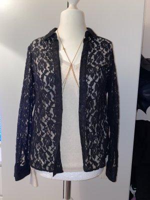 H&M Kanten blouse zwart