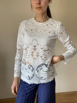 1.2.3 Paris Koronkowa bluzka biały