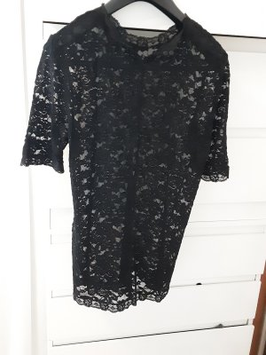 Koronkowa bluzka czarny