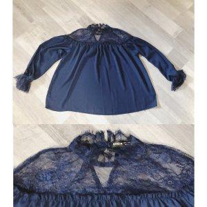 SheIn Kanten blouse donkerblauw