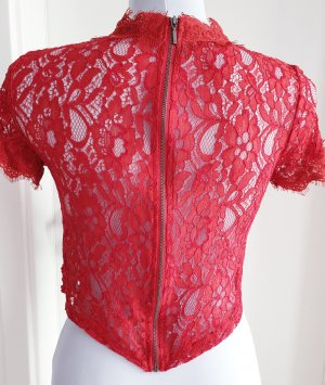Spitzen Bluse mit Reißverschluss