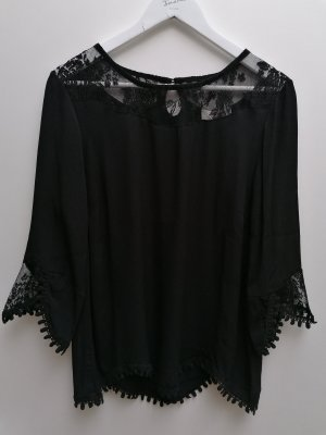 Cream Lace Blouse black viscose