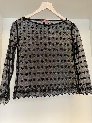 Spitzen-Bluse von Rena Lange, schwarz
