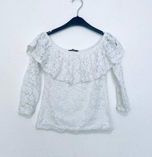 Haily's Blusa in merletto bianco-bianco sporco