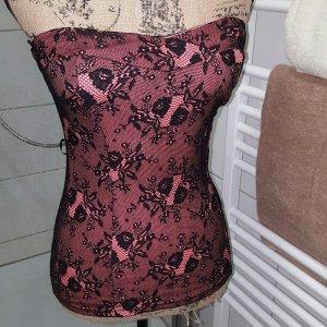 Tally Weijl Corsé negro-rojo oscuro
