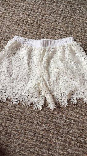 Hot pants bianco