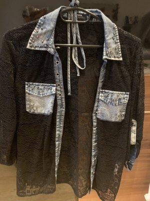Blind Date Mesh Shirt black-azure