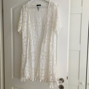 Made in Italy Crochet Cardigan white