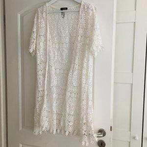 Made in Italy Szydełkowany sweter biały