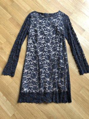 Spitzen Kleid grau/nude Imperial