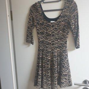 Apricot Lace Dress black-camel