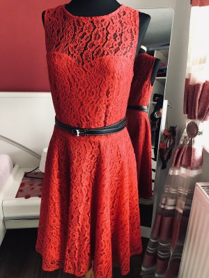Orsay Lace Dress red