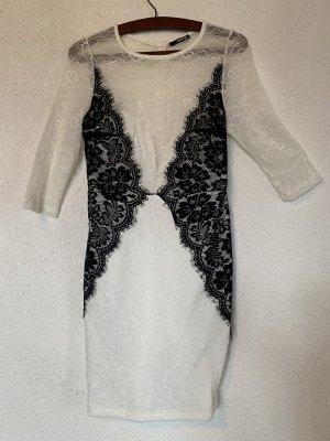 Spitzen Kleid weiß schwarz