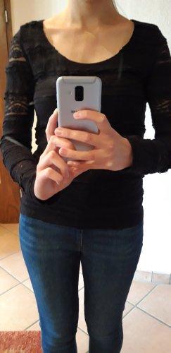 / Top à manches longues noir coton