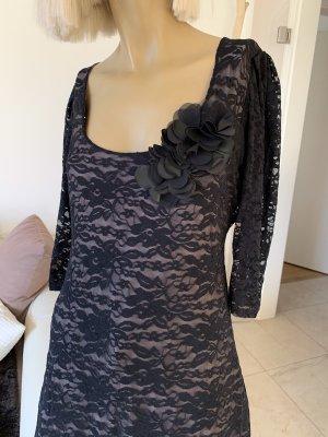 Spitzen Minikleid .. Tunika .. schwarz .. Gr. S/M # Quinze Trente Paris # neuwertig