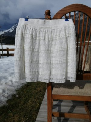 H&M L.O.G.G. Lace Skirt white