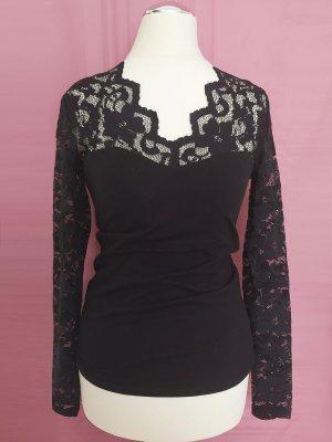 H&M Top di merletto nero Cotone