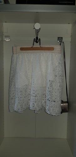 Unito Falda de encaje blanco-crema