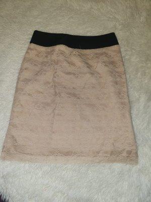 H&M Falda de encaje crema-beige