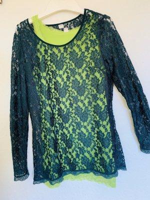 s.Oliver Camisa de malla verde pradera-verde bosque