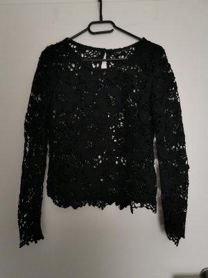 H&M Siateczkowa koszulka czarny