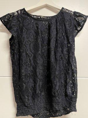 Only Siateczkowa koszulka ciemnoniebieski-czarny