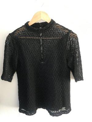 Galeries lafayette Gehaakt shirt zwart Katoen