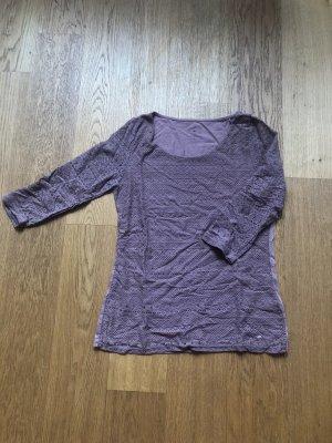 Tom Tailor Camisa de malla rosa-lila grisáceo