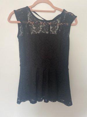 Gina Tricot Koronkowa bluzka czarny