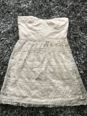 Amisu Robe épaules nues crème polyamide