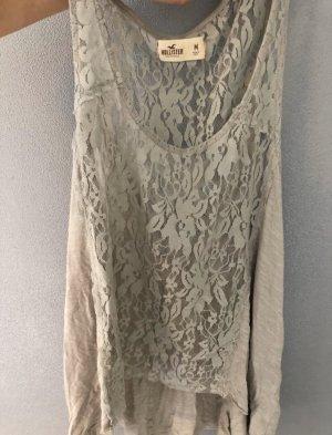 Hollister Top di merletto grigio chiaro-grigio