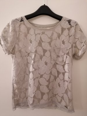 Abercrombie & Fitch Lace Top light grey