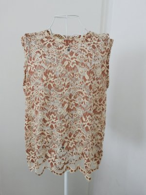 Eksept Lace Top sand brown-cream