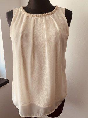Vero Moda Blusa in merletto crema-beige chiaro