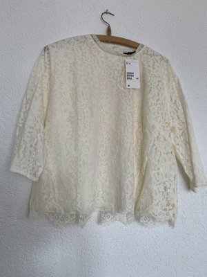 Spitzen top Bluse weiß creme