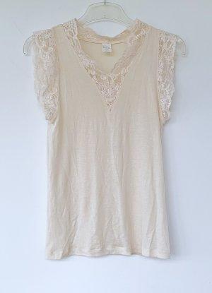 Spitzen Unterhemd von Bleyle, elfenbeinfarben, Wolle/Seide   Größe 44