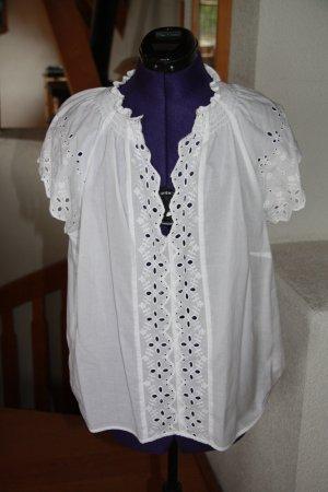 H&M L.O.G.G. Blouse en dentelle blanc coton