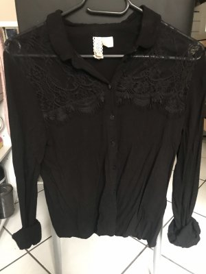H&M Divided Kanten blouse zwart