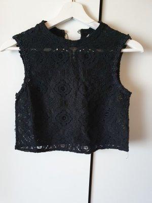 American Vintage Top di merletto nero