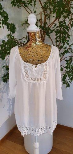 Please Koronkowa bluzka biały