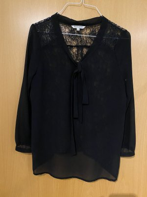 Review Kanten blouse donkerbruin